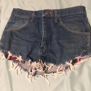 Wrangler High-Waisted Jean Shorts